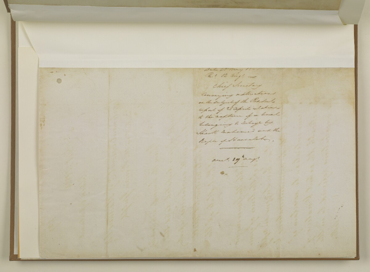 Letter no. 619 of 1824 from William Newnham, Chief Secretary, Political Department, Bombay Castle to Lieutenant Colonel Ephraim Gerrish Stannus, Resident in the Gulf of Persia [‎14v] (12/12)