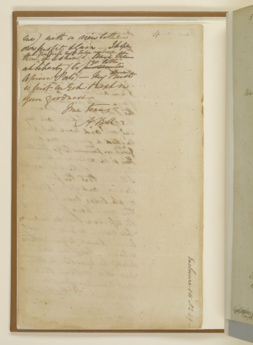 Letter no.49 of 1855 from Captain Arnold Kemball, Resident in the Persian Gulf, to Henry Anderson, Secretary to the Government of Bombay [4v] (4/4)