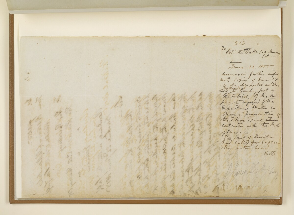 Leter no.212 of 1855 from Captain Arnold Kemball, Resident in the Persian Gulf, to Charles Augustus Murray, Her Majesty's Minister Plenipotentiary and Envoy Extraordinary at the Court of Persia [‎24v] (2/2)