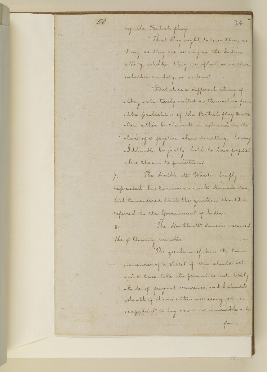 Duplicate letter no.5078 of 1855 from Henry Anderson, Secretary to the Government of Bombay, to Commander Felix Jones, Acting Resident in the Persian Gulf [34r] (7/14)
