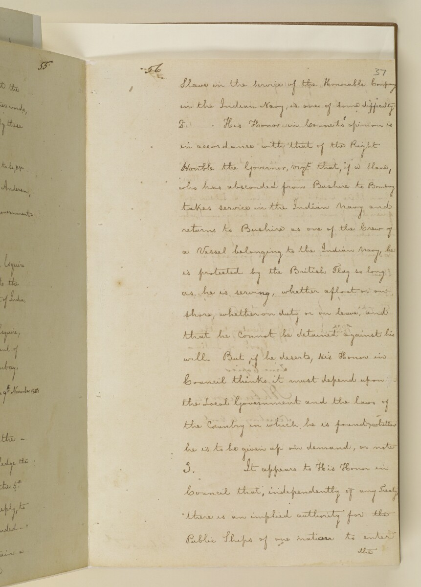 Duplicate letter no.5078 of 1855 from Henry Anderson, Secretary to the Government of Bombay, to Commander Felix Jones, Acting Resident in the Persian Gulf [37r] (13/14)