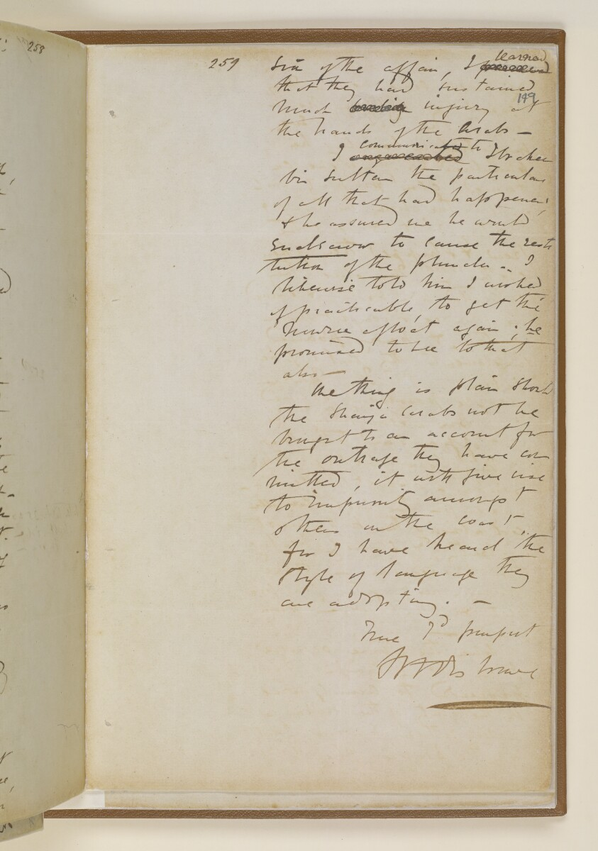 Letter no.447 of 1855 from Commander Felix Jones, Acting Resident in the Persian Gulf, to Henry Anderson, Secretary to the Government of Bombay [149r] (5/22)