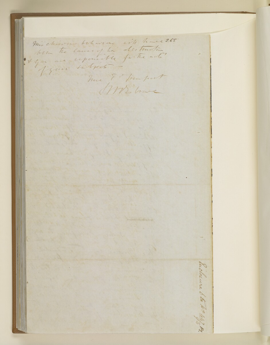 Letter no.447 of 1855 from Commander Felix Jones, Acting Resident in the Persian Gulf, to Henry Anderson, Secretary to the Government of Bombay [154v] (16/22)