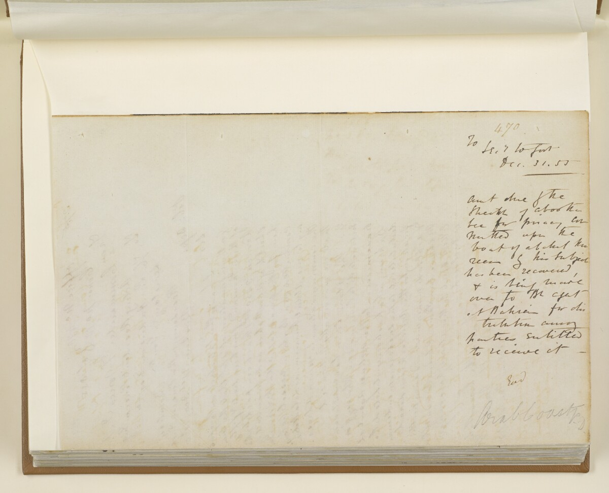 Letter no.470 of 1855 from Commander Felix Jones, Acting Resident in the Persian Gulf, to Henry Anderson, Secretary to the Government of Bombay [‎159v] (2/4)