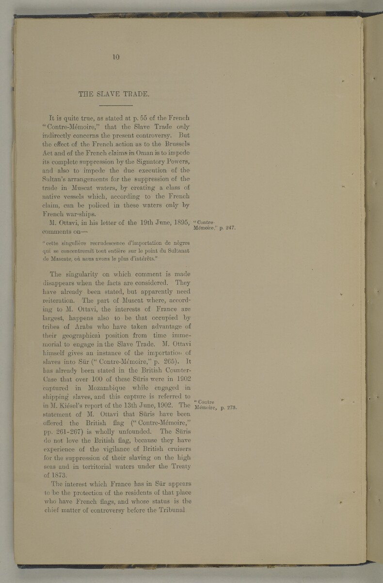 'Muscat Dhows Arbitration. In the Permanent Court of Arbitration at the Hague. Grant of the French Flag to Muscat Dhows. The case on behalf of the Government of His Britannic Majesty.' [24v] (57/208)