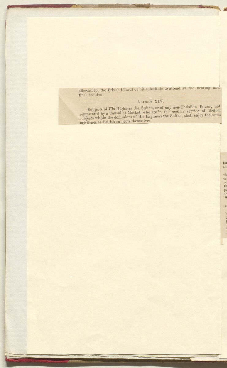 'File 35/86 II A 45 Muscat - Commercial Treaty of 1891 and revision of treaty 1922' [30v] (66/572)
