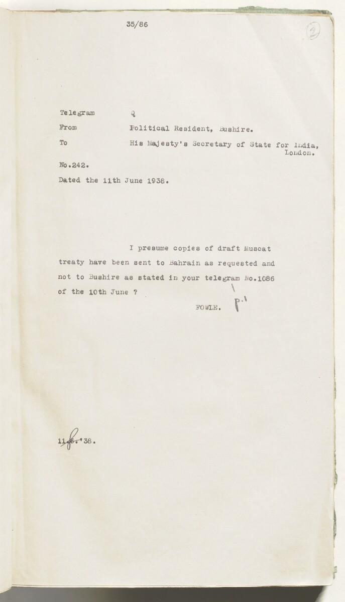 'Muscat Treaty' [2r] (18/537)