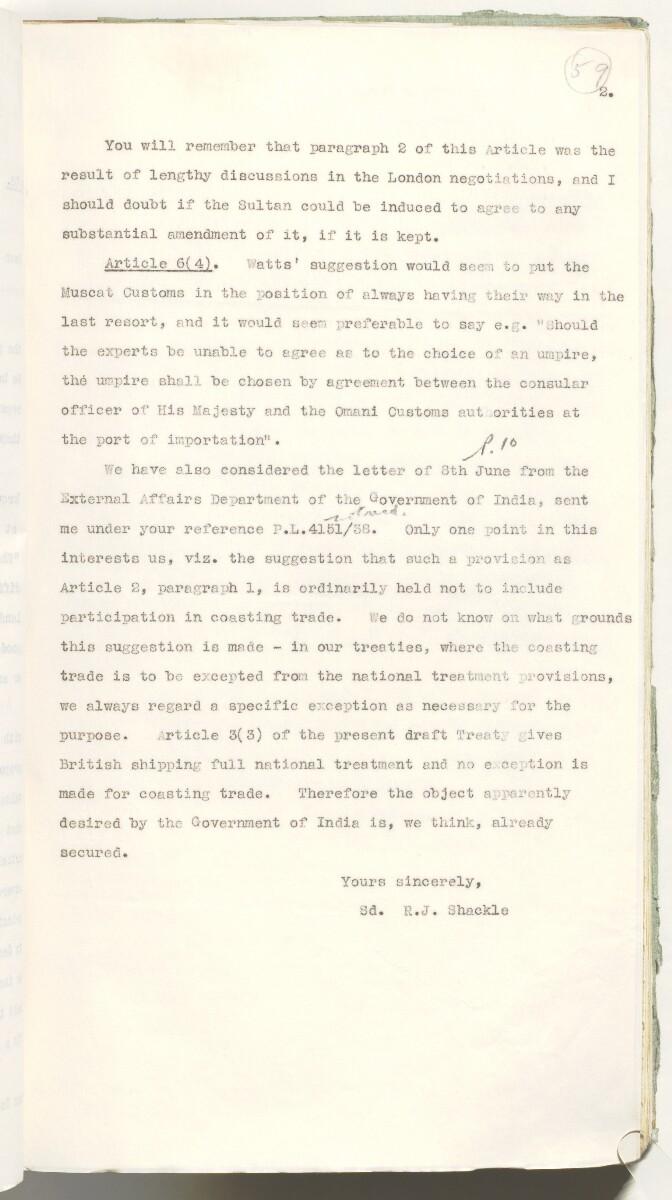 'Muscat Treaty' [59r] (132/537)