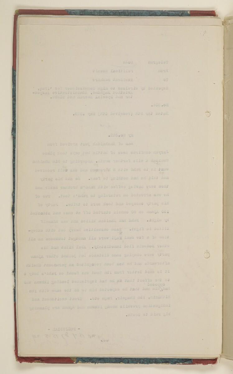 'File 61/14 IX (D 56) Relations between Nejd and Iraq' [12v] (30/700)