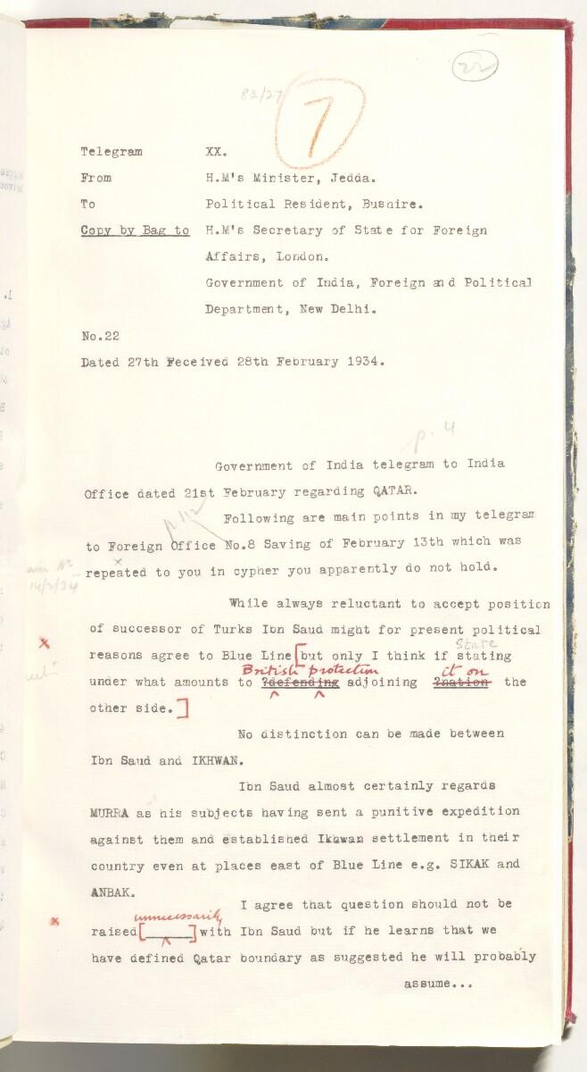 'File 82/27 III (F 84) APOC: Qatar Oil' [22r] (60/638)