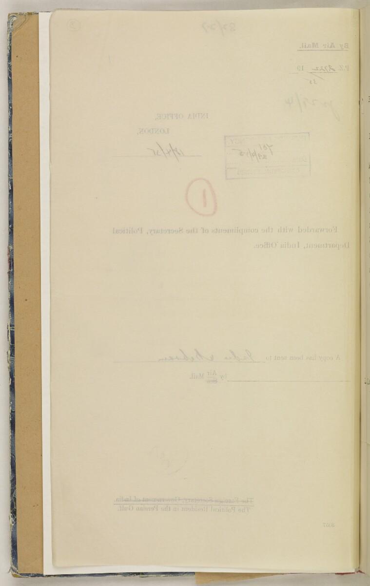 'File 82/27 VII F. 88. QATAR OIL' [3v] (15/468)