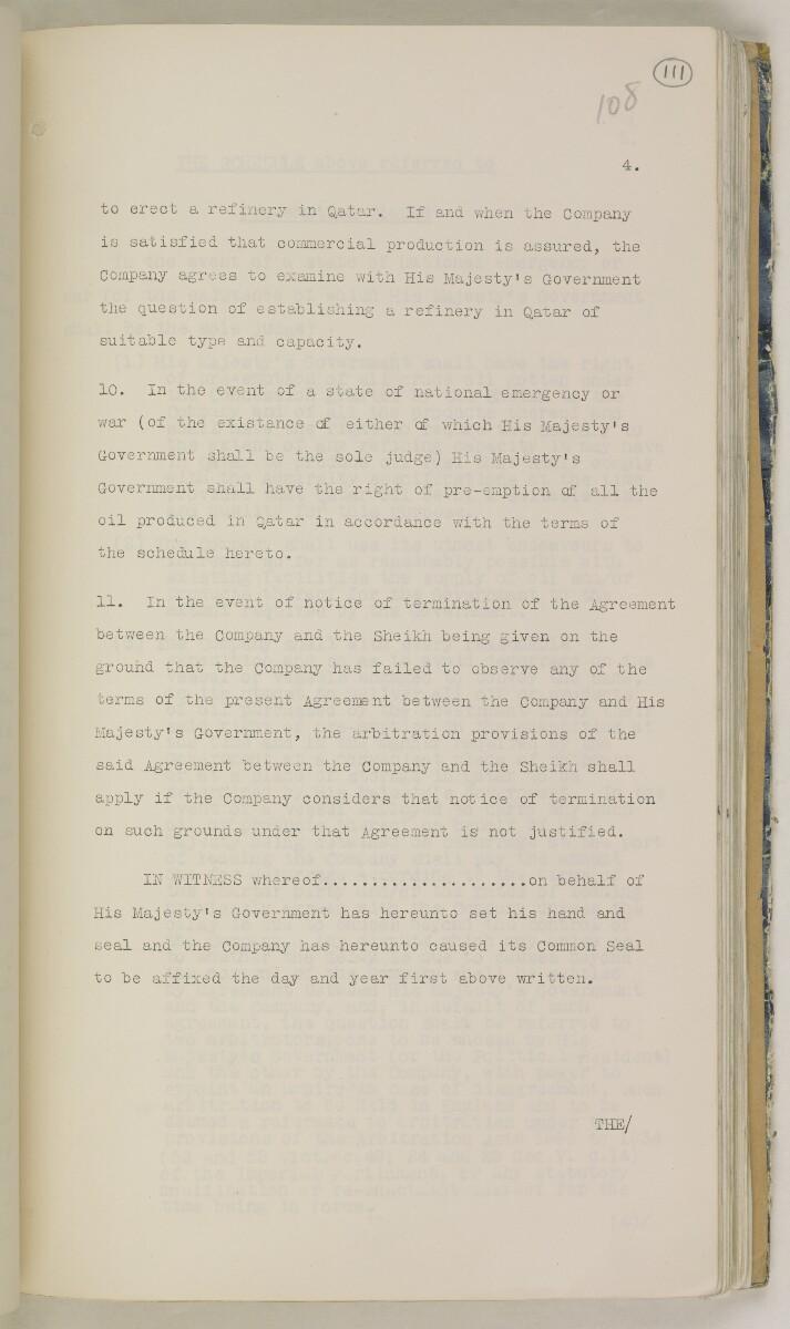 'File 82/27 VII F. 88. QATAR OIL' [111r] (232/468)