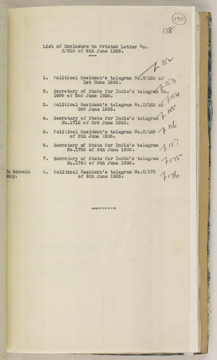 'File 82/27 VII F. 88. QATAR OIL' [190r] (388/468)