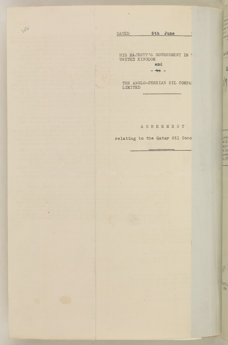 'File 82/27 VII F. 88. QATAR OIL' [‎212v] (433/468)