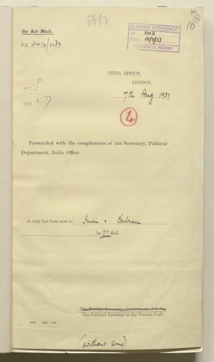 'Confidential 86/7-VIII B-45 P.C.L. TRUCIAL COAST' [16r] (36/444)