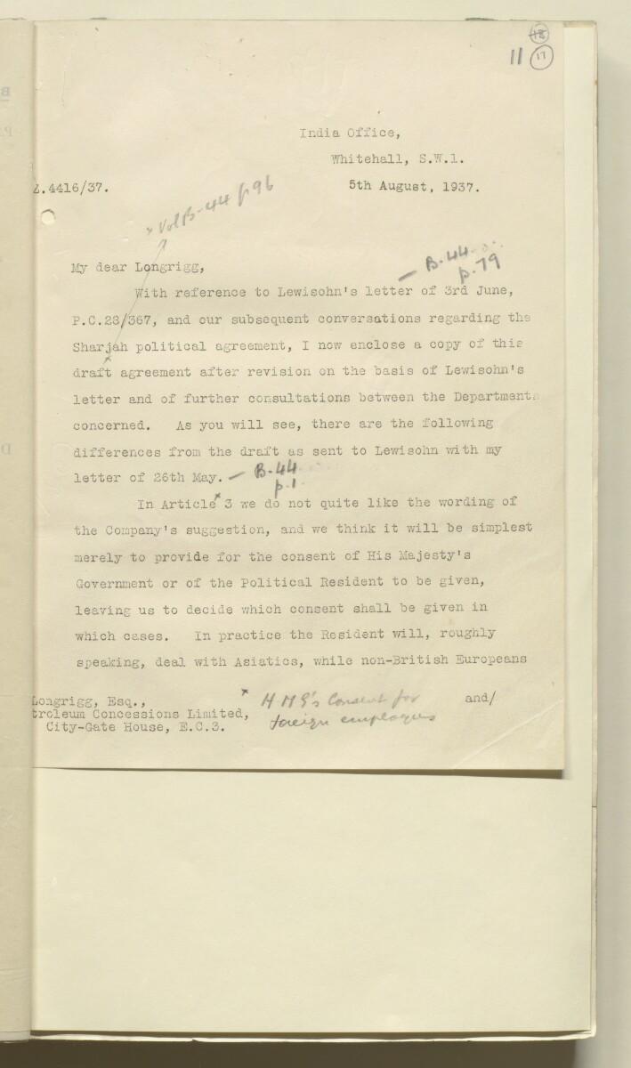 'Confidential 86/7-VIII B-45 P.C.L. TRUCIAL COAST' [17r] (38/444)
