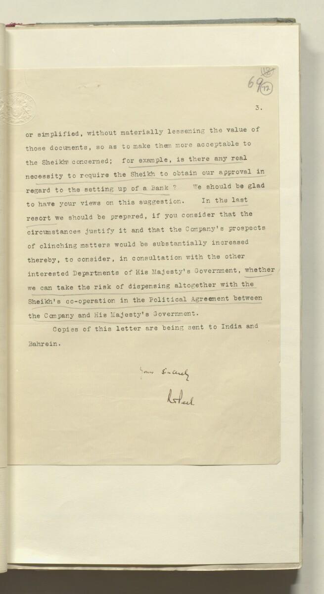 'Confidential 86/7 - ix B.52. P.C.L. TRUCIAL COAST' [72r] (148/420)