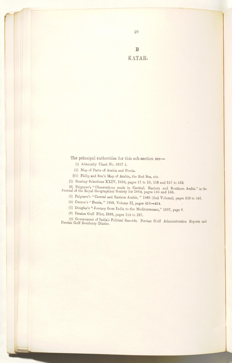 'Persian Gulf Gazetteer Part II, Geographical and Descriptive Materials, Section II Western Side of the Gulf' [47v] (97/286)