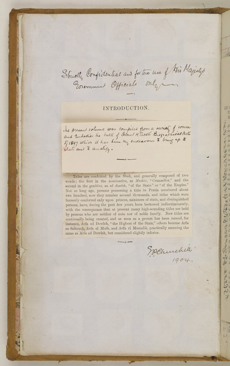 'Biographical Notes' [3v] (11/611)