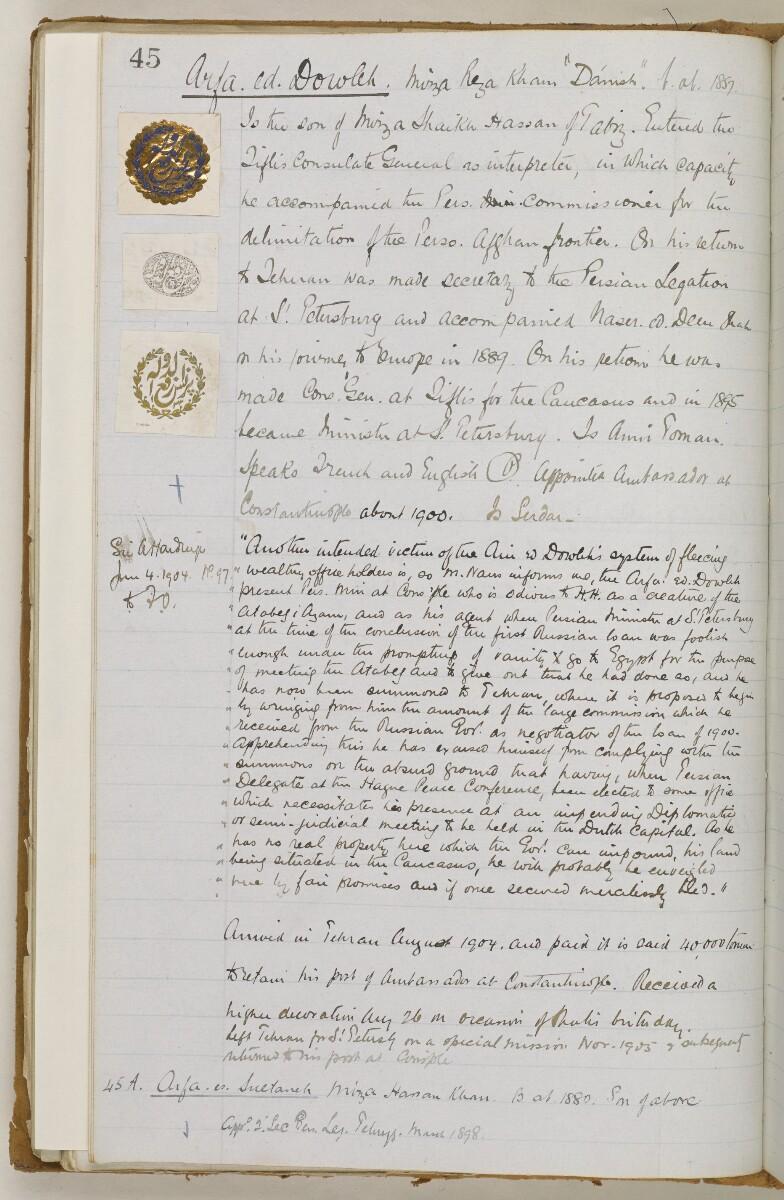 'Biographical Notes' [66v] (138/611)