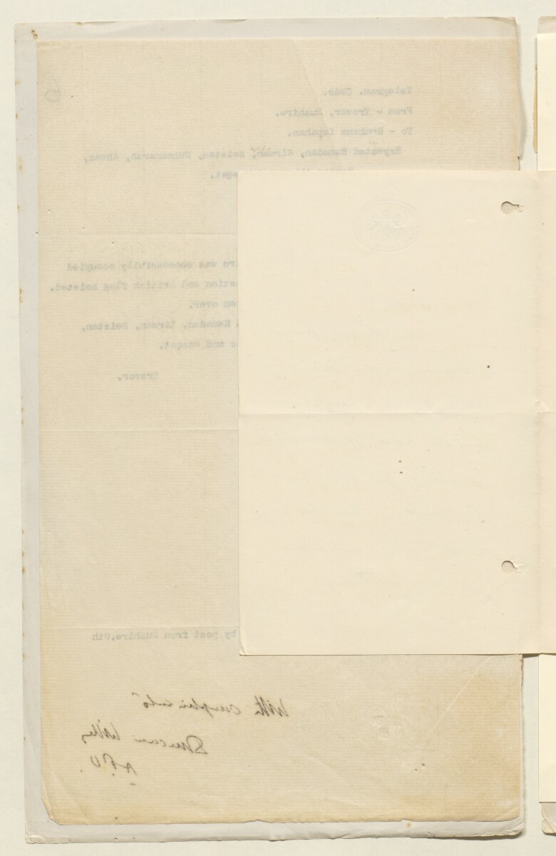'File W/4 Hostilities in Persia: Tangistan Blockade; Confiscation of Tea for Tangistan' [7v] (12/411)
