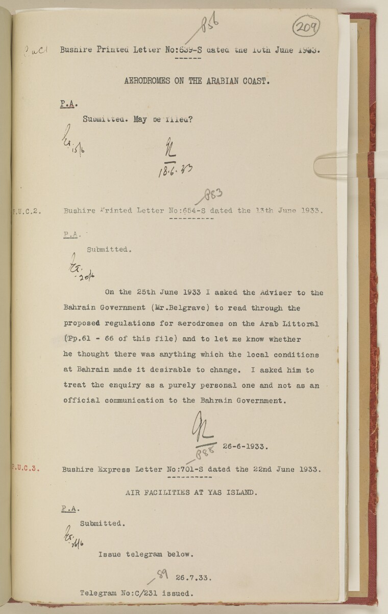 'File 7/2 I Landing grounds and seaplane anchorages' [‎209r] (430/468)
