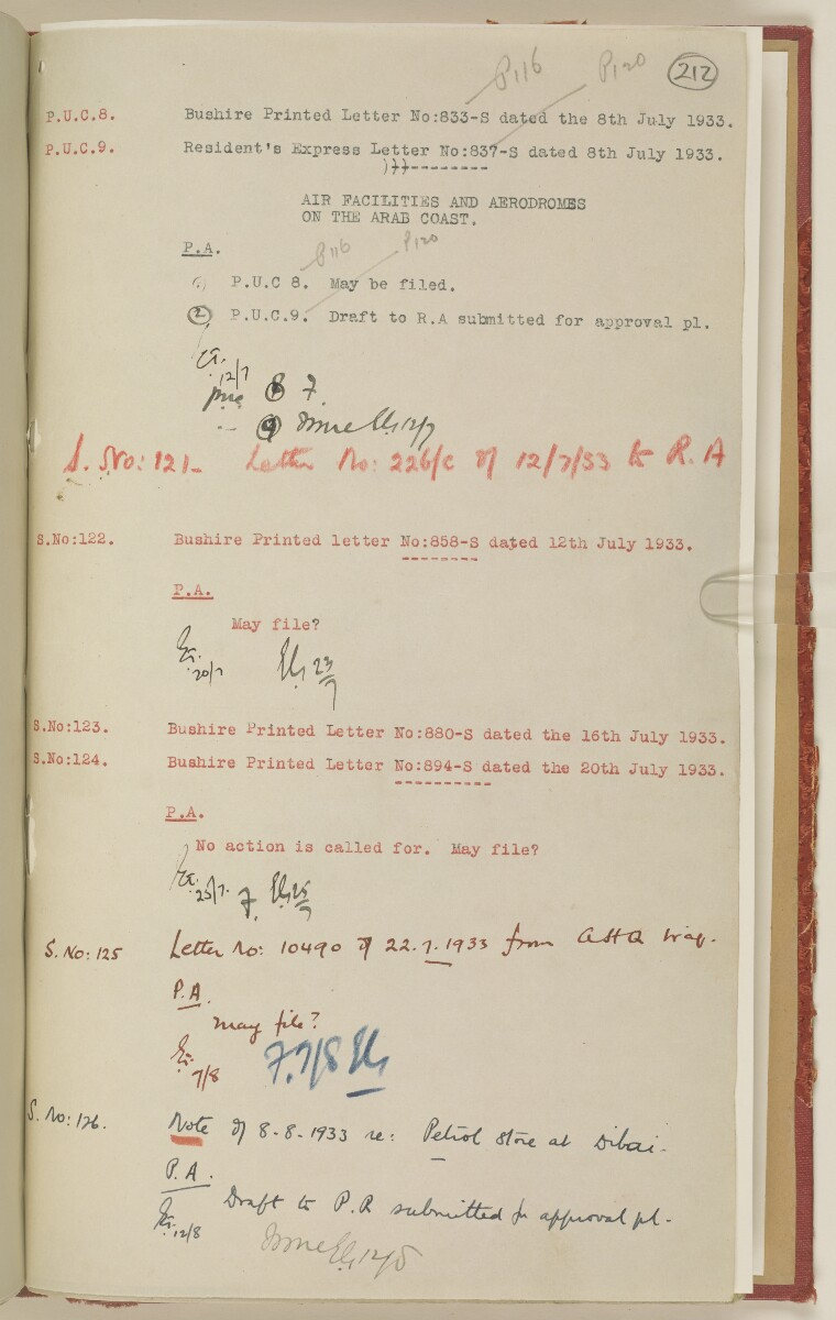 'File 7/2 I Landing grounds and seaplane anchorages' [‎212r] (436/468)