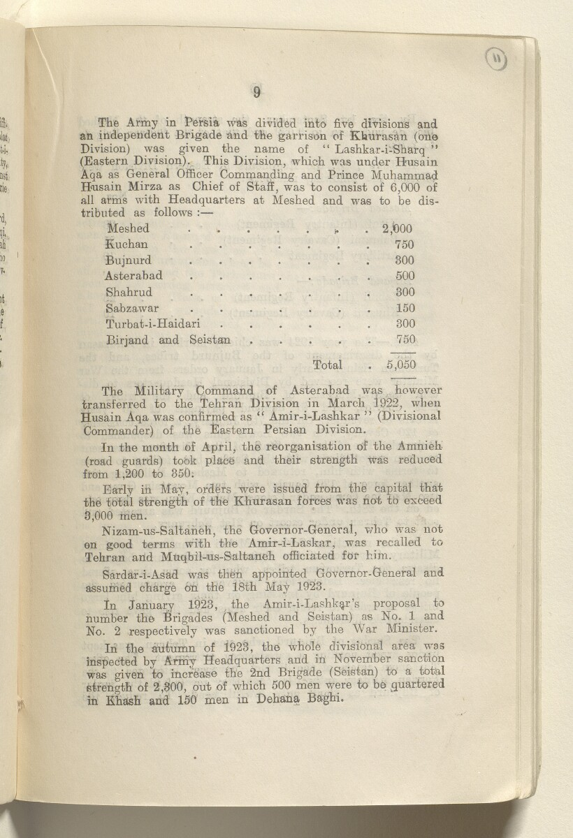 'Military report on Persia Volume I 1930' [11r] (26/154)