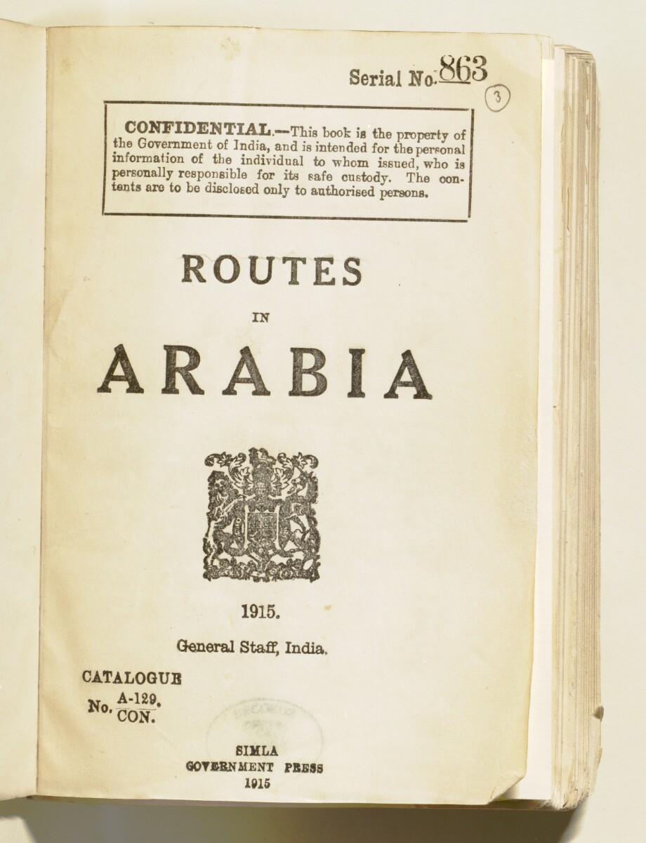 'Routes in Arabia' [ii-r] (10/852)