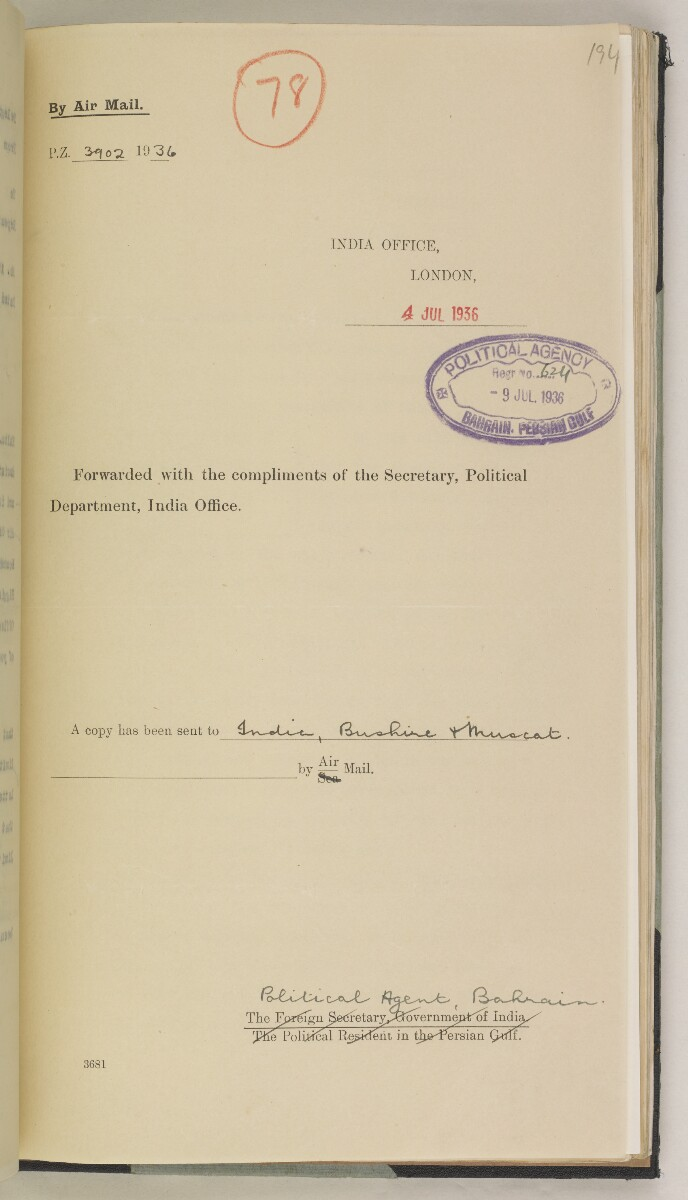 'File 7/2 IV R.A.F. Landing Grounds & Anchorages' [‎194r] (400/550)