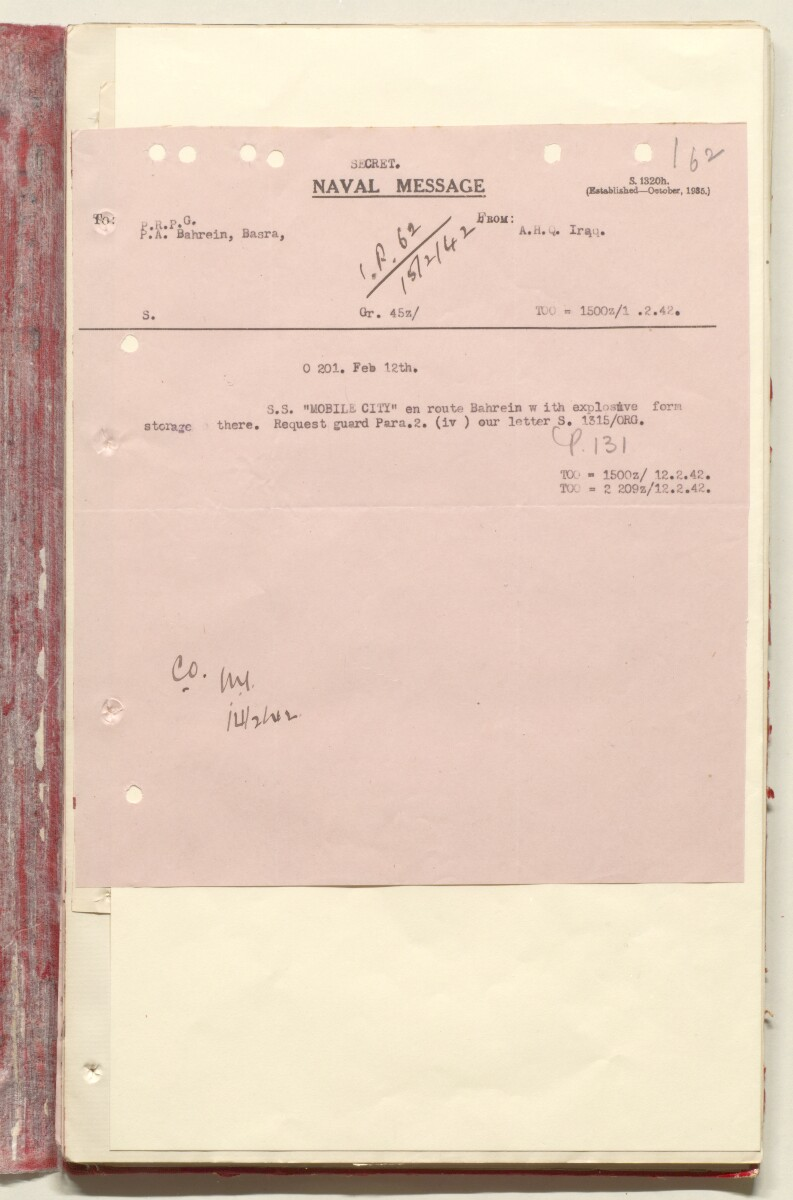 'File 7/2 VI Landing grounds and seaplane anchorages' [‎162r] (344/618)