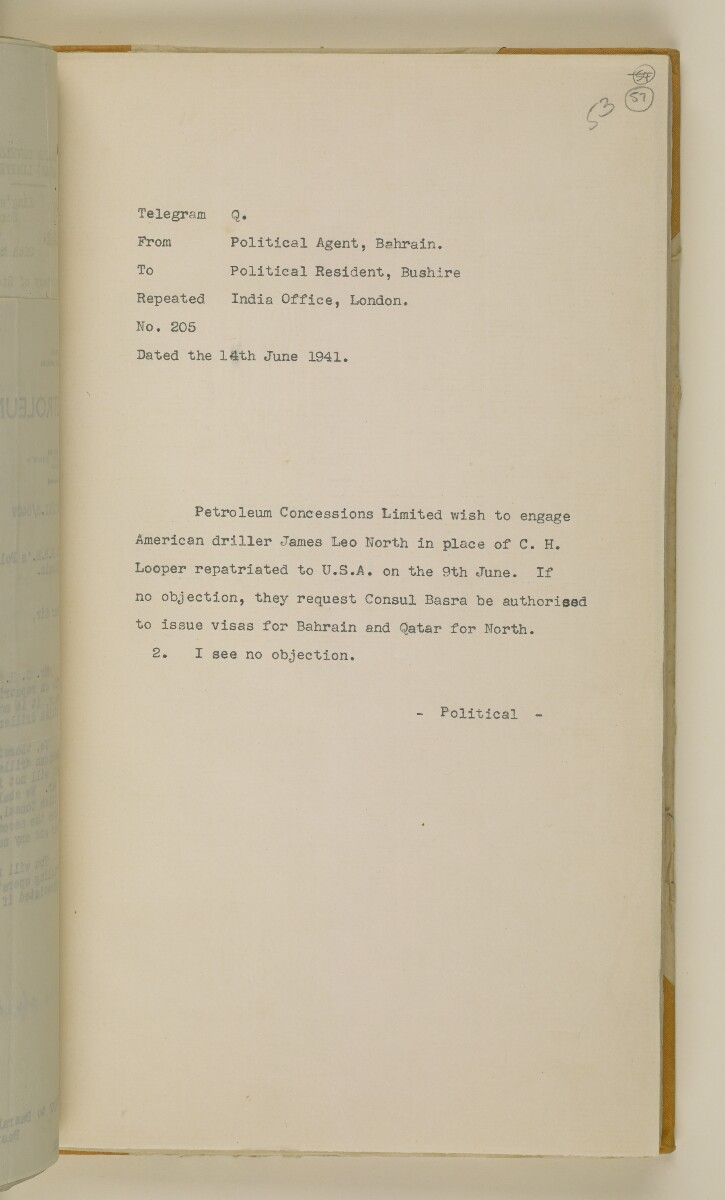 'File 38/3 I, P. C. L. Qatar Concession' [57r] (118/484)