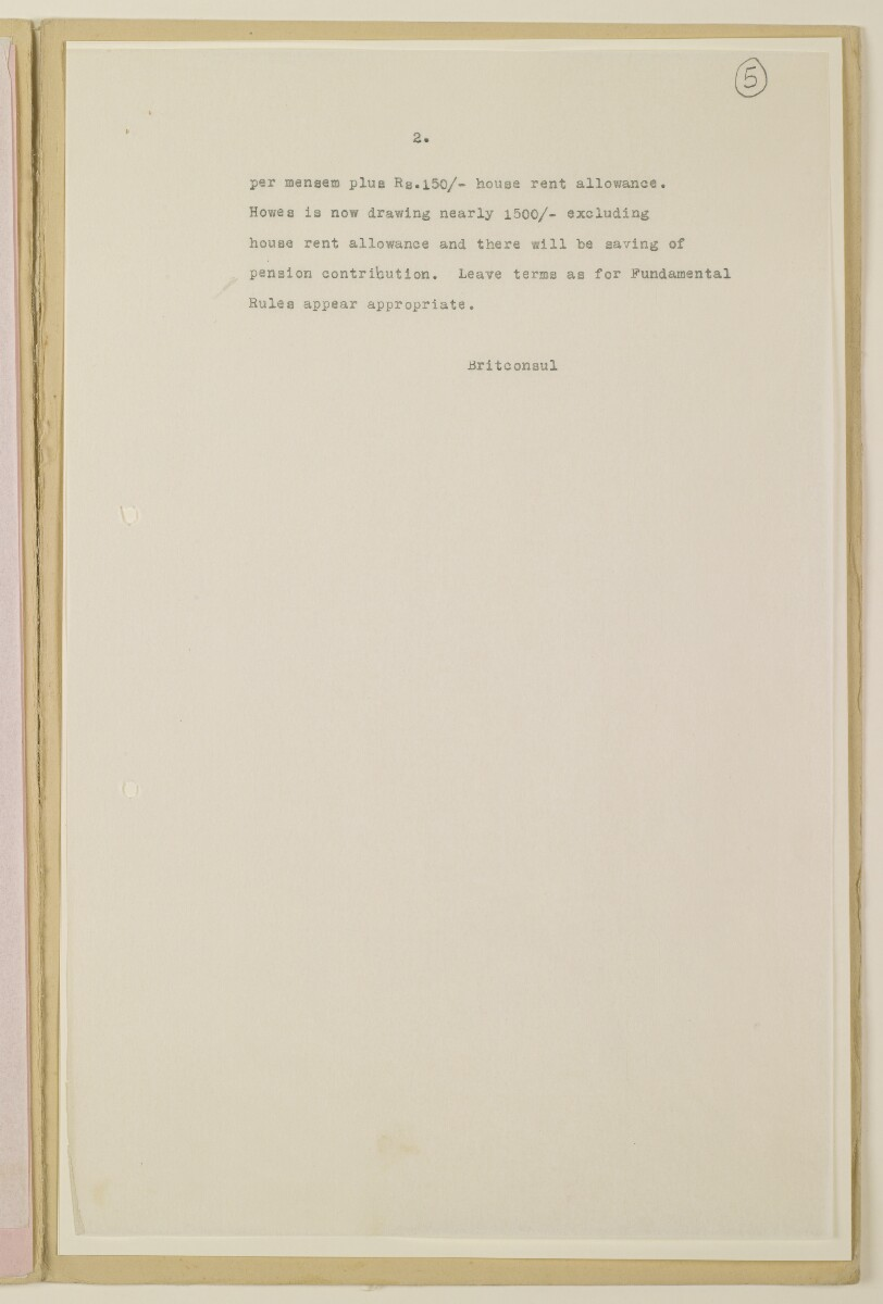 'File 4/12 (1.a/52) Publicity Officer, Persian Gulf' [‎5r] (9/24)