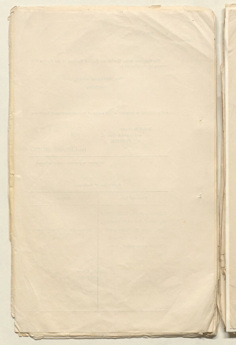 'File 1/4 Personal File of Captain H D H Rance' [‎9v] (22/936)
