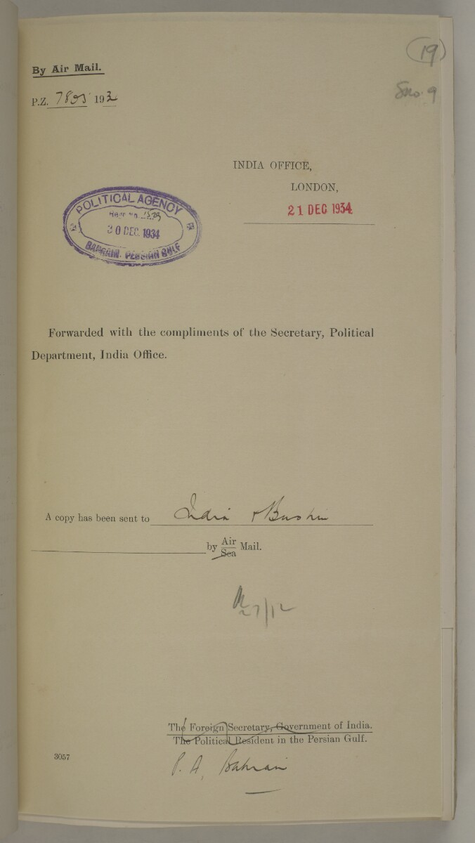 'File 10/1 XI Bahrain Oil Concession' [19r] (52/494)