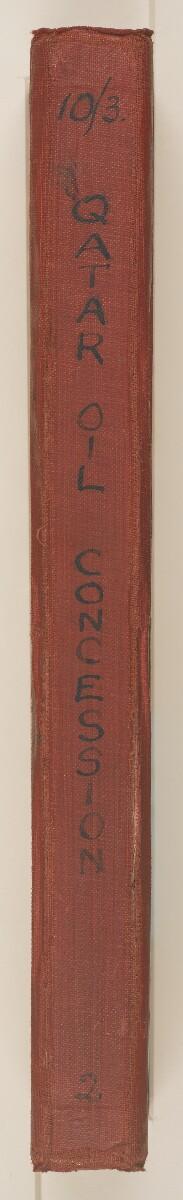 'File 10/3 II Qatar Oil Concession' [spine] (5/520)