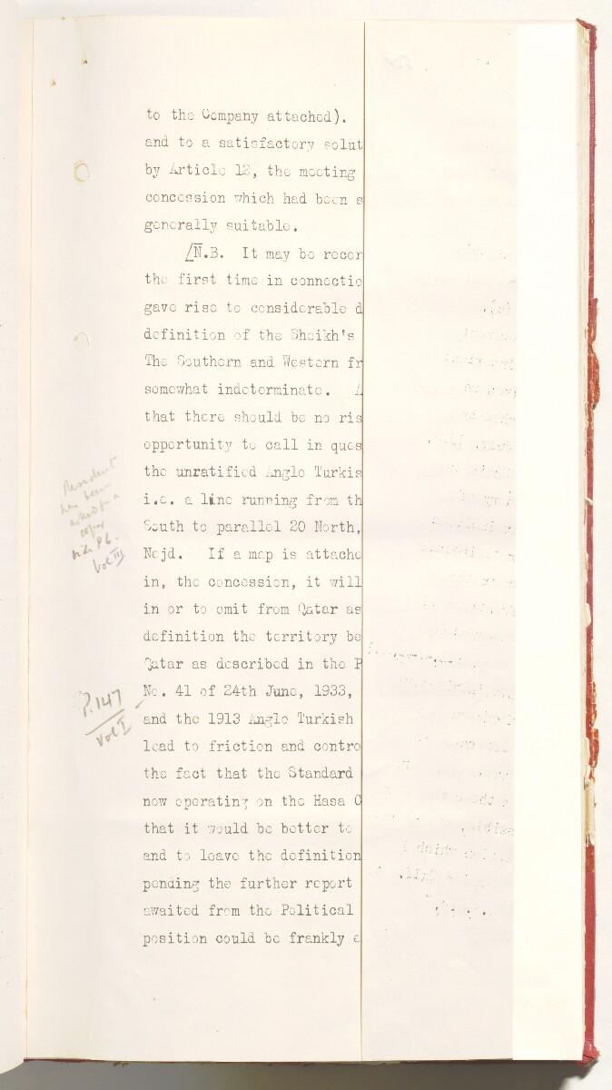 'File 10/3 III Qatar Oil Concession' [36r] (84/470)