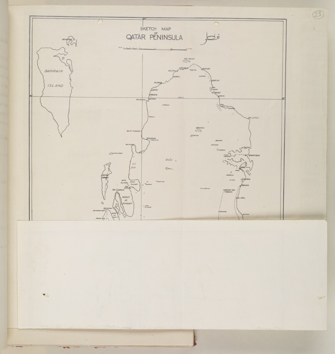 'SKETCH MAP OF QATAR PENINSULA' [23v] (2/2)
