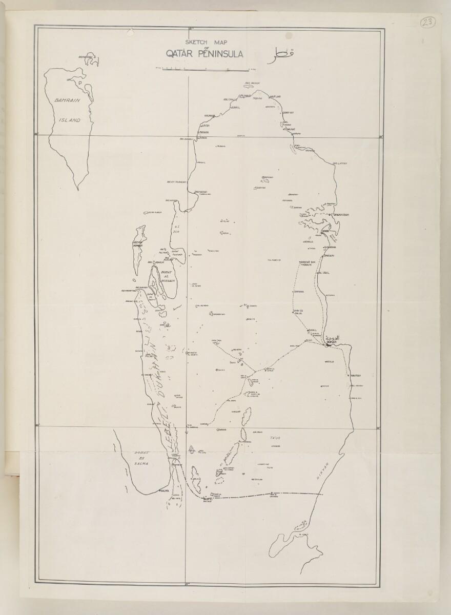 'SKETCH MAP OF QATAR PENINSULA' [23r] (1/2)