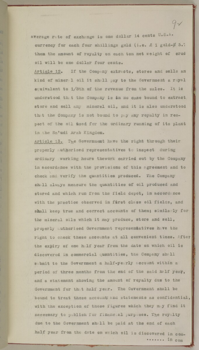 File 10/5 I Saudi Arabia: Hasa Oil Concession; visit of Major Holmes to Saudi Arabia; Kuwait blockade. [‎92r] (212/496)