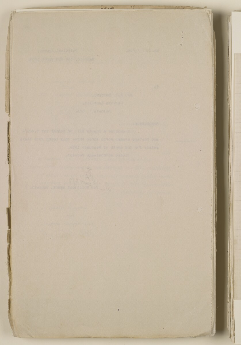 'File 1/28 Superintendent, Political Agency, Bahrain' [12v] (26/868)