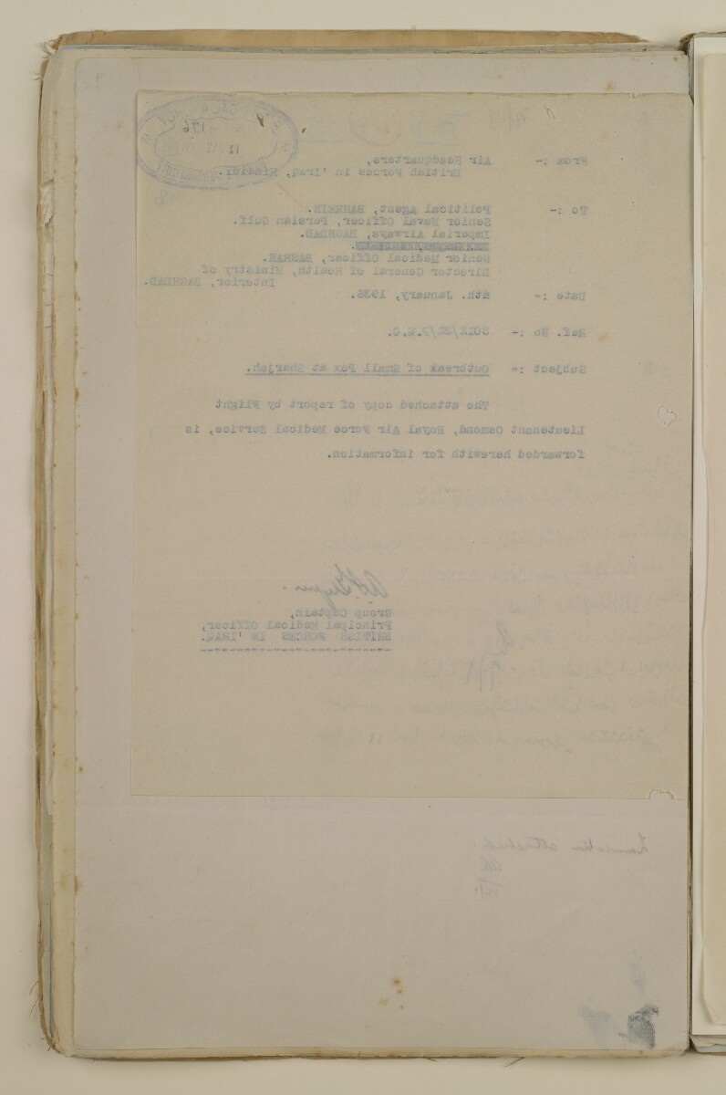 'File 2/14 Outbreaks of smallpox, cholera and other diseases on the Trucial Coast' [‎55v] (110/808)