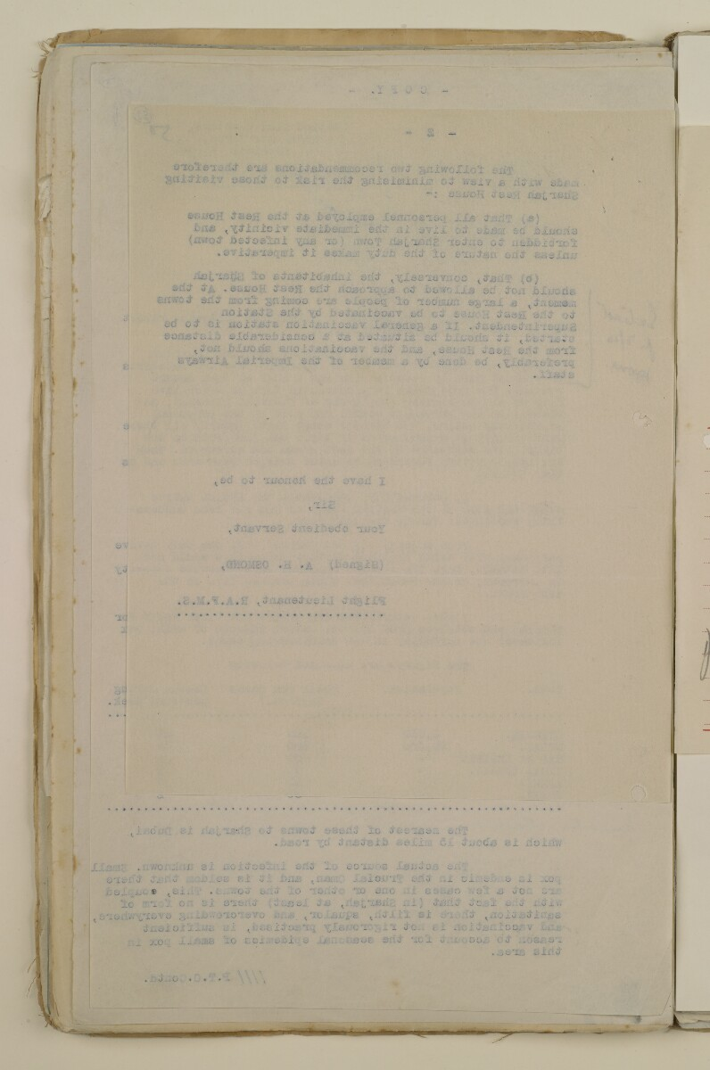 'File 2/14 Outbreaks of smallpox, cholera and other diseases on the Trucial Coast' [57v] (114/808)