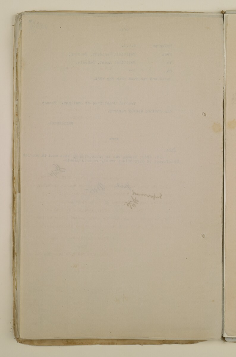 'File 2/14 Outbreaks of smallpox, cholera and other diseases on the Trucial Coast' [180v] (360/808)