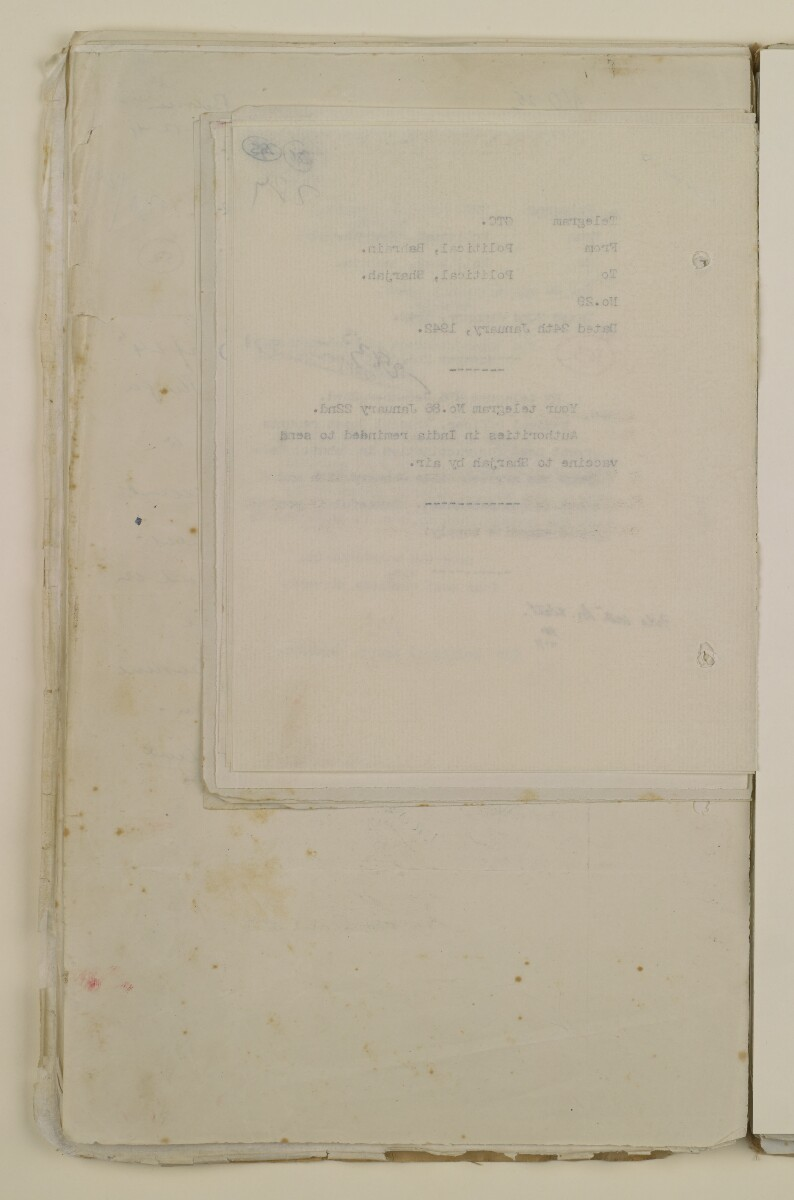'File 2/14 Outbreaks of smallpox, cholera and other diseases on the Trucial Coast' [‎286v] (572/808)