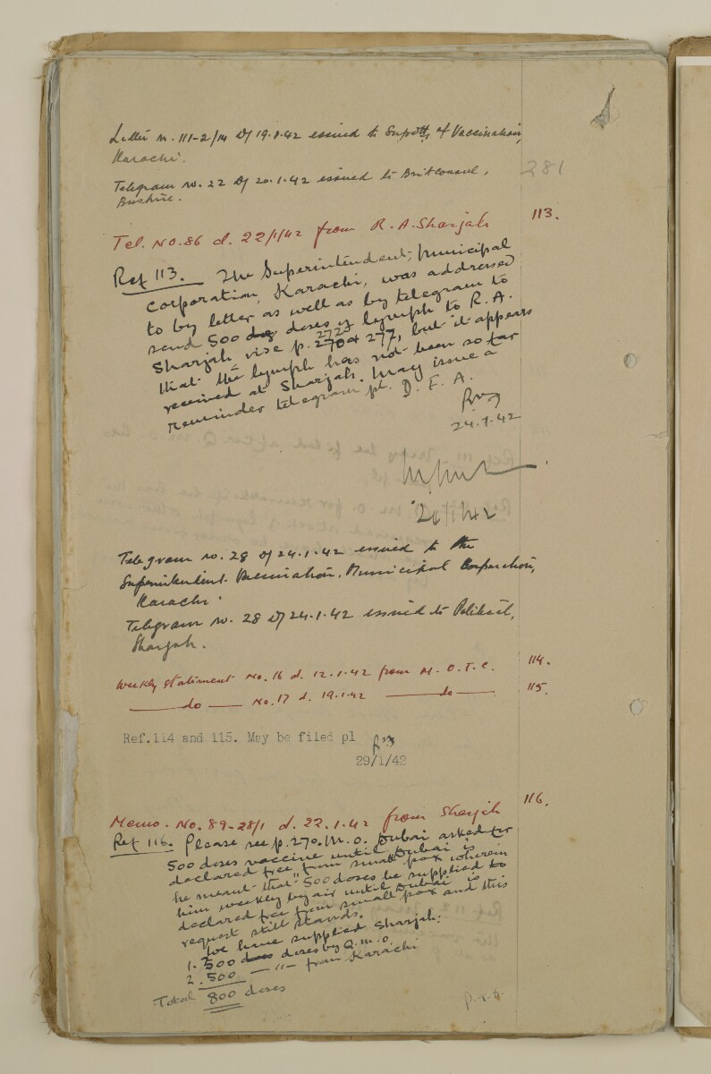 'File 2/14 Outbreaks of smallpox, cholera and other diseases on the Trucial Coast' [‎397v] (794/808)
