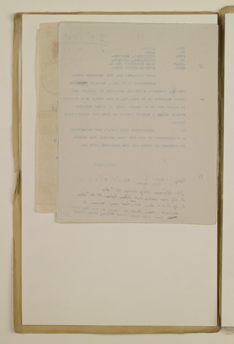 'File 2/14 II Epidemics (in places other than Bahrain) Cholera, Smallpox etc' [46v] (92/358)