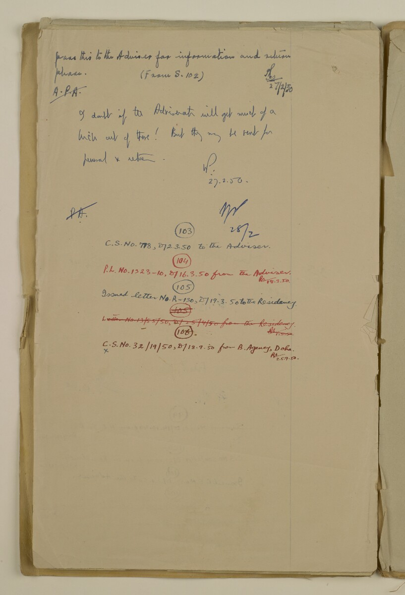 'File 2/14 II Epidemics (in places other than Bahrain) Cholera, Smallpox etc' [177v] (354/358)