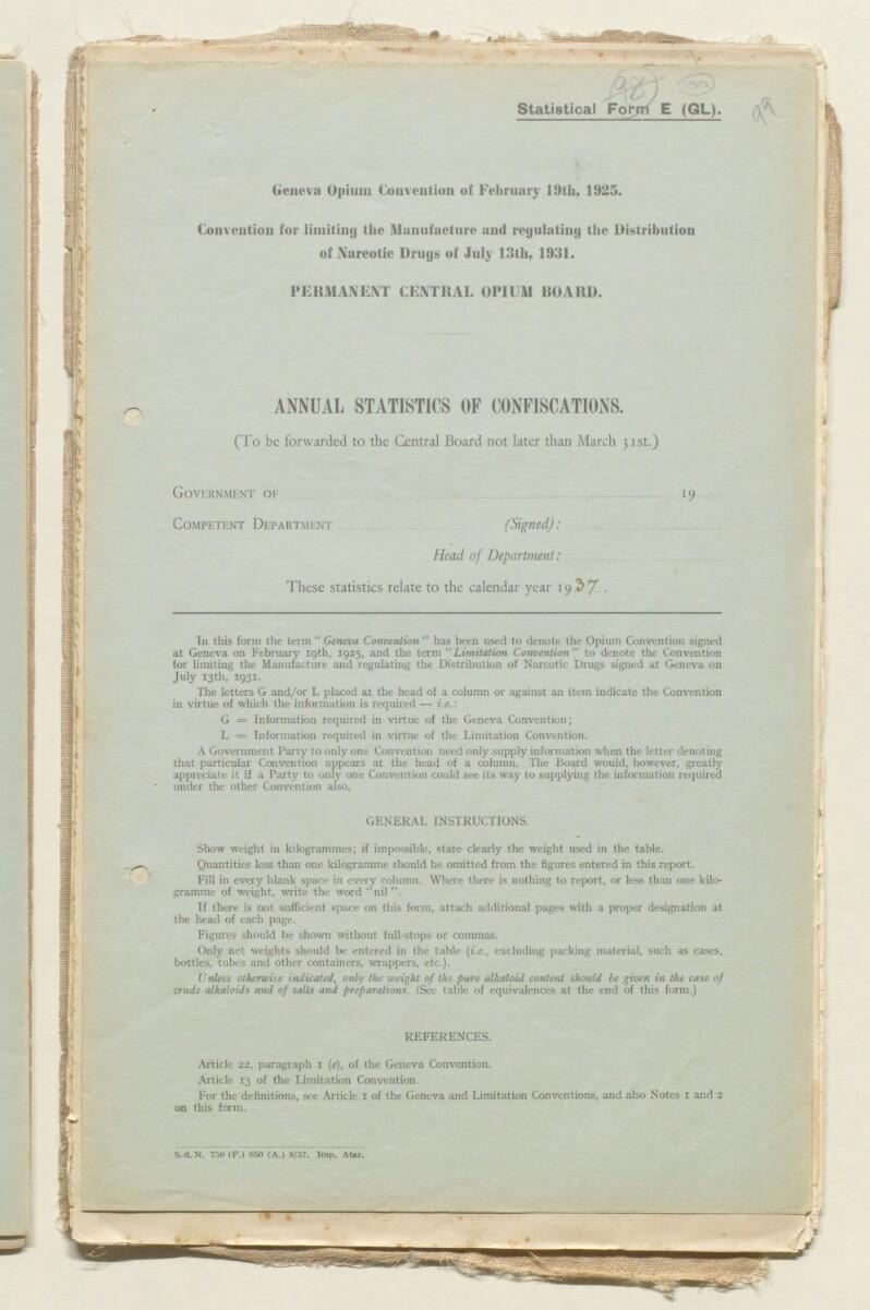 File 8/4 I Interdicts: Import of Opium into Bahrain' [ 100r] (200