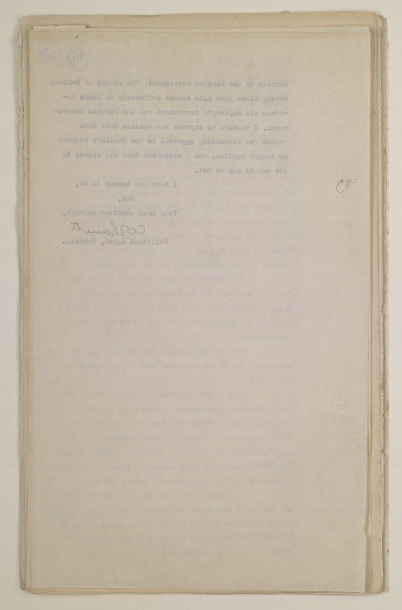 'File 13/8 PASSPORT REGULATIONS GOVERNING PERSIANS AND BAHRAINIS' [116v] (234/520)